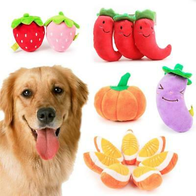 Lots Pet Puppy Chew Play Squeaker Squeaky Soft Plush Sound Dog Funny Toys