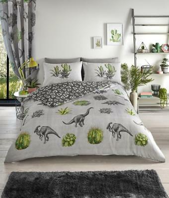 Luxury Dinosaur Dreams Duvet Cover Bedding Set with Pillow Cases all Sizes