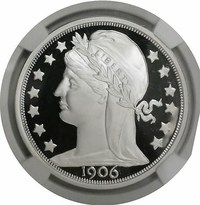 1906 PATTERN DOUBLE EAGLE 2011 SMITHSONIAN NGC SILVER ULTRA CAMEO PROOF 1oz .999