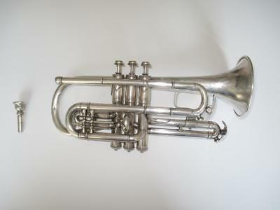 Vintage Rare April 2 1907 C.G. Conn Perfected Wonder Cornet VERY NICE COOL