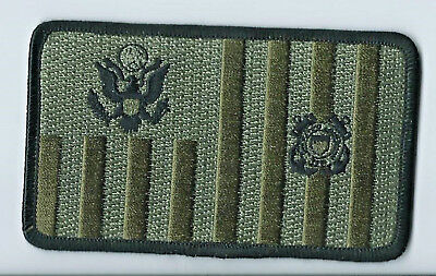 USCG United States Coast Guard Ensign subdued patch 2-1/2 X 4-1/4