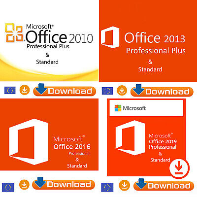 Microsoft Office 2010/2013/2016/2019 Pro Plus & Standard Original Key Download
