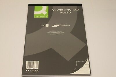 A4 Q-CONNECT MEMO PADS x 100 SHEETS, RULED OR BLANK