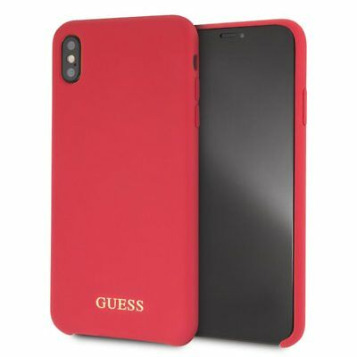 IPHONE XS MAX Silikonhülle Guess Gold Logo Case Rot