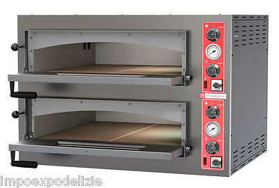 oven pizza electric professional floor refractory 9+9 pizzas 34cm with lights