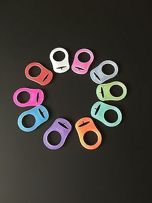 KAM / MAM Baby Pacifier Silicon Dummy Adaptors Ring Clip Soother