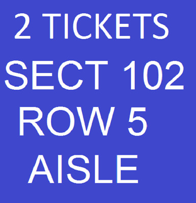 2019 Buffalo Bills HOME GAME vs New York Jets - 2 tickets Sect 102 Row 5
