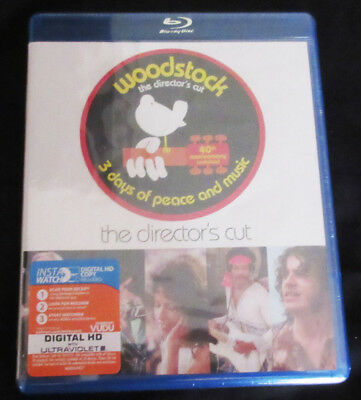 New! Woodstock 40th Anniversary Director's Cut 3 Disc Blu-Ray Set! 60s music