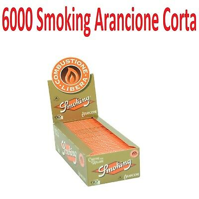 6000 Cartina SMOKING Arancione Orange corta + accendino