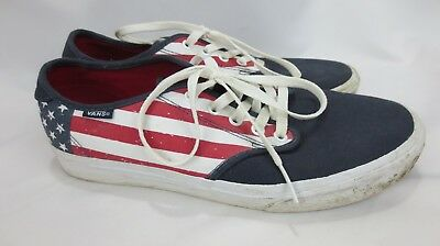 VANS OFF THE Wall Men\u0027s Skate Shoes red white \u0026 blue