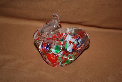 Millefiori Elephant Paperweight Multi-Color Flowers Hand Blown GOP Republican