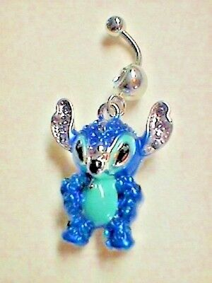 Disney 3 D Stitch Surgical Steel Belly Ring 9 95 Picclick