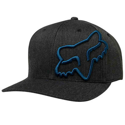 Fox Racing Men's Clouded Flexfit Hat Black Navy Headwear Baseball Cap