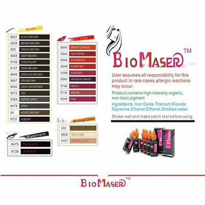 1 pcs Professional Tattoo Ink Pigmento Makeup Pigments For Eyebrow Eyeliner Lip