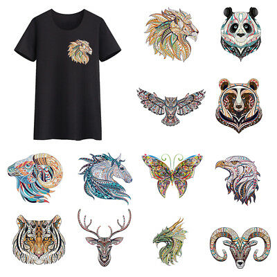 Ethnic Style Animals Clothes Heat Transfer Stickers IronOn Appliques Patches DIY