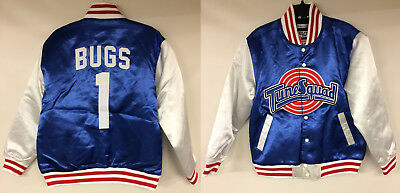 Space Jam Tune Squad Bugs Bunny Authentic Basketball Satin Jacket Looney Tunes