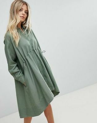 126f4a2c6e1 French Connection Women's Ellesmere Drape Shift Dress Shady Meadow Green  Size 14