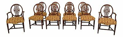 LF30545EC: Set Of 10 Vintage Federal Style Mahogany Dining Room Chairs
