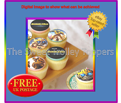 Transformers Bumblebee Edible Rice/Wafer Paper Icing Cupcake Cake Toppers