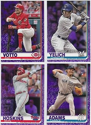2019 Topps Series 1 Purple Parallels - You Pick - Meijer (Read Description)