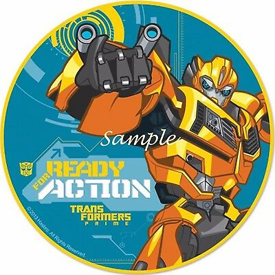 Bumblebee ( Transformers) 7 Inch Edible Image Cake & Cupcake Toppers