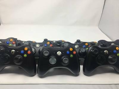 Official Microsoft Xbox 360 Wireless Controller Black (Certified Refurbished)