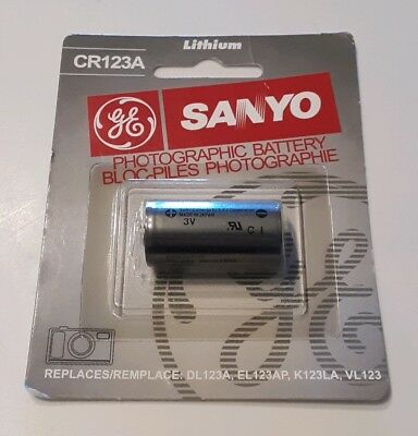 SANYO GE Lithium CR123 CR123A 123 Photo Battery NEW FREE SHIPPING US SELLER