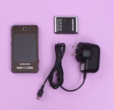 Samsung F480i 3G (Black) Mobile Phone w/ Battery & Charger (Unlocked)