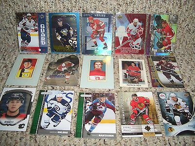 15 CARD LOT (bv $150) NHL HOCKEY HIGH END INSERTS /SP'S free shipping