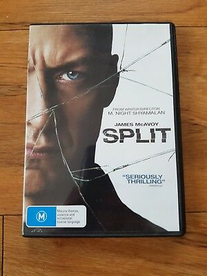 DVD  ..  Split ... R4 ... Rated M  ... 2017 ... James McAvoy
