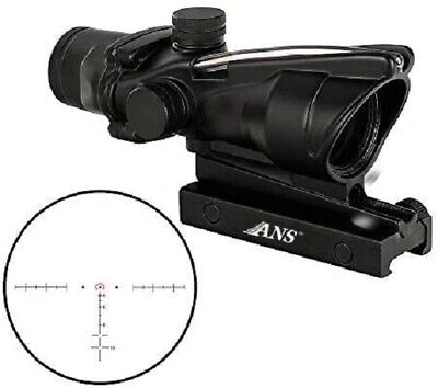 1x32 Tactical Red Dot Sight Scope with Red Fiber