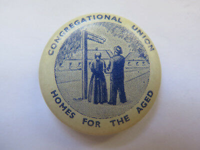 CONGREGATIONAL UNION HOMES for THE AGED BADGE or TINNIE AUSTRALIA c1920