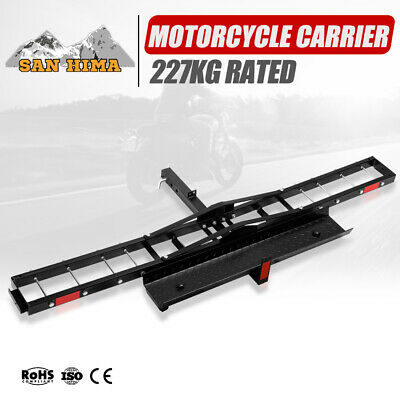 500LBS Foldable Motorcycle Rack Carrier For Car Rear Towbar 2 inch Hitch Mount