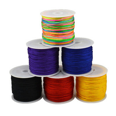 0.8mm*45 m Waxed Cotton Cord Wire Thread Beading Macrame String Jewelry DIY