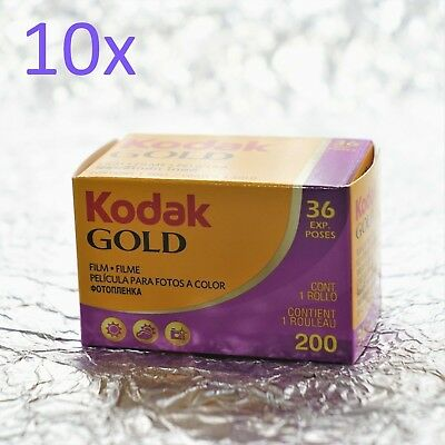 *BEST PRICE* 10x Kodak Gold 200 35mm (36 exposures) film (AU FREE POST)