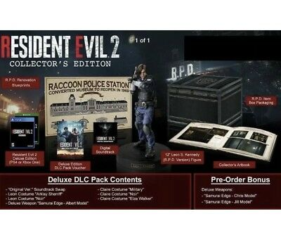 Resident Evil 2 Collector's Edition Gamestop Exclusive PS4 PlayStation 4 New!