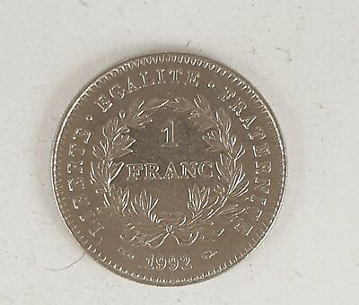 Ancienne Piece Monnaie 1 Franc Republique 1992 Nickel