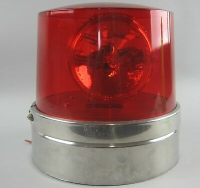 GE Dietz 7-40 SAE W3 80 Red Emergency Beacon Light 12 Volt Wire Connection