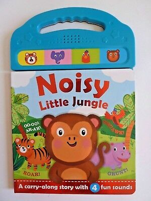 Noisy Little Jungle Sound Book With 4 Fun Sounds Ages 0 Month+ New Birthday Gift