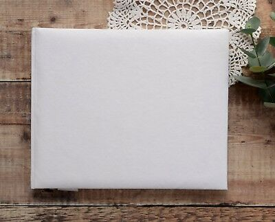Large Plain Undecorated Guest Book. White DIY Wedding Guest Book with Box.