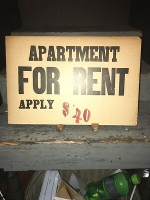 Vintage 1940s Boarding House Room For Rent Sign York Pa 2499