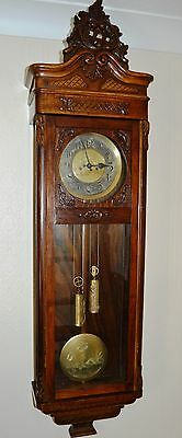 Antique Original Gustav Becker Wall Clock Huge 143 Cm Vienna Regulator