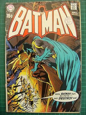 BATMAN no.221 Bronze Age 1970 key issue Neal Adams cover