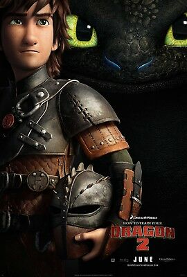 """HOW TO TRAIN YOUR DRAGON 2 2014 Advance Teaser DS 2 Sided 27x40"""" US Movie Poster"""