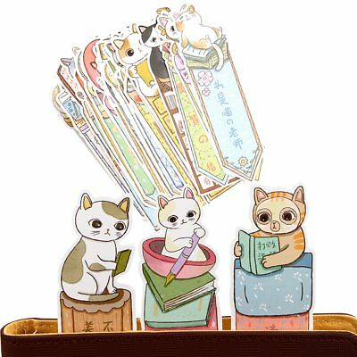 30Pcs/lot Cute Funny Cat Bookmark Paper Cartoon Animals Bookmark Promotional