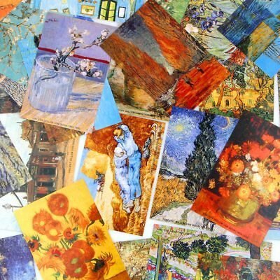 30pcs/box bookmarks Van Gogh Oil Painting Postcards Vintage Greeting wish Card