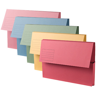 A4+ Document Wallets Foolscap Cardboard envelope Filling Folders For Office Uni
