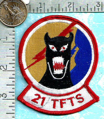 USAF 21ST AIRLIFT SQ PATCH /'BEE LINERS/'           OLDER                COLOR