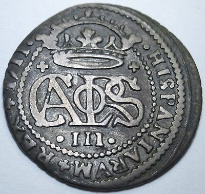 1711 Spanish Silver 2 Reales Piece of 8 Real US Colonial Two Bits Pirate Coin