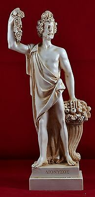 Dionysus Dionysos greek statue ecstasy wine greek mythology patina statue